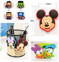 Wholesale Mickey And Minnie Fridge Magnet Cute PVC Magnet Home Décor styles The Avengers Alliance Hero Alliance Refrigerator Magnets A0315