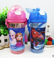 Wholesale 2016 new cartoon straw cup Student Cartoon kettle Children s plastic cup