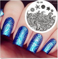Wholesale 20 DIY Polish Beauty Charm Nail Stamp Stamping Plates d Nail Art Templates Stencils Manicure Tools styles Available