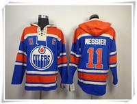 best halls - Hoodies Jerseys Men ICE Hockey Oilers MESSIER HALL Eberle Blue Best quality stitching Jerseys Sports jersey Mix Order