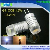 bright color led bulb - G4 COB W Ultra Bright LED lamp V Crystal Droplight LED Bulb White Warm white color