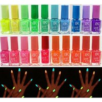 Wholesale New Arrival Hotsell Candy Colors Glow In The Dark Luminous Fluorescent Nail Art Polish Enamel New Arrived Promotion