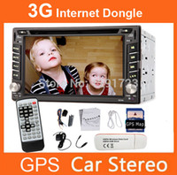 mp3 mp4 touchscreen - 3G Internet Dongle GPS Map UI Design Inch Double DIN In Dash Touchscreen LCD Monitor with DVD CD MP3 MP4 USB SD AMFM Car DVD Video Playe