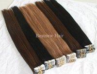 glue in hair extensions - 100g quot quot quot quot quot Glue Skin Weft Tape in Hair Extensions Indian Human hair A Grade mix colors