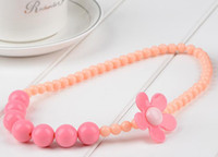 Wholesale New Children Candy Color Necklace Acrylic Flower Lovely Bracelet Kids Fashion Jewelry for
