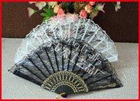 Silk plastic hand fan - 70pcs Folding Hand Lace Fan Plastic frame Dancing Fan Chinese Folk Arts Fan Costume Party Wedding Fan