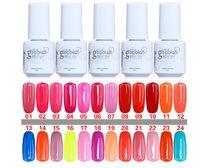 Wholesale 60pcs Gelish Nail Polish UV Gel Soak Off Gel Polish Nail Lacquer Varnish Brand New Top Quality Long lasting Colors ml