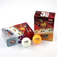 Wholesale dhs hongshaugnxi table tennis ball star star star yellow white ball014