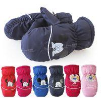 baby ski gloves - new Children s gloves Mittens Ski gloves Coral fleece Autumn Winter Keep warm Boy Girl Baby Cartoon Fashion dtst006