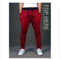 Wholesale Harem Pants New Style Fashion Casual Skinny Sweatpants Sport Pants Trousers Drop Crotch Jogging Pants Men Joggers Sarouel