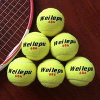 Wholesale 3pcs pack Primary Entry level Tennis Training Balls for Club School Students Good Rubber Chemical Fiber