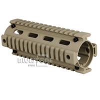 Wholesale Desert Tan Carbine Length NATO Rifle Duty Picatinny Quad Rail Handguard Mount
