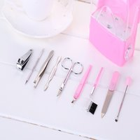 beauty folder - steel Nail Tools maquiagem nail file dead skin fork dig beauty scissors eyebrow folder ear sobrancelha faca