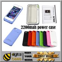 light bank - 2200mah External power bank for Iphone rechargable battery case for Iphone s light weight power backup color polymer battery power case