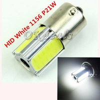 Wholesale 1 New HID White P21W chips COB LED Bulb For Car Backup Reverse Light