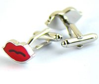 Wholesale Fashion Red Sexy Cufflink French Cufflinks Father s Day Gift For Mens Jewelry Cuff Link C185