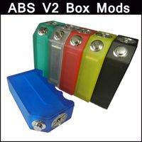 ABS V2 Box Mod New acrílico transparente Box ABS Mod V2 enorme Mod Vape usar 18650 vs caixa de ABS Escudo cereja Mni 50W phantus mod mini-mod