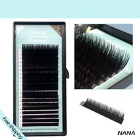 Wholesale cases mink extension eyelashes D curl Thickness mm MIX sheet case