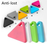 Wholesale Triangle iTag Anti lost Alarm Smart Bluetooth GPS Tracker Remote Control Locator Finder Search for iphone Smartphone Kids Key bags