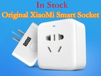 Wholesale Original XiaoMi Smart Plug WiFi Phone Wireless Remote Control Smart Timer Socket Charger V A With APP Original Package