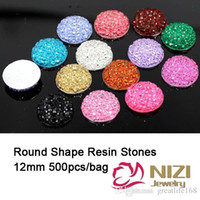 resin material - Cabochons mm Resin Stones Flatback Round Shape Rhinestone Kawaii Cabochons Sparkly Resin Stones For DIY Garment Material Many color