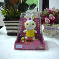 Wholesale Swing Under Full Light No Battery Novelty Solar Toy Home amp Car Decoration Happy Dancing Solar Powered Rabbit Doll