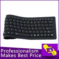 Wholesale-84keys plegable impermeable de silicona suave teclado bluetooth inalámbrico flexible para tablet PC