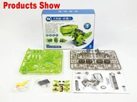 assembly plastic materials - Spot quality Environmental plastic material in Solar Robot Tyrannosaurus assembly Novelty children s educational toys