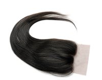 Wholesale Wigiss Hair Products Virgin Brazilian Hair Lace Top Closure quot quot Natural Straight quot quot Natural Color H6011A