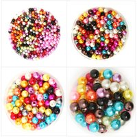 Wholesale mm Mixed Pearl Beads Acrylic Spacer Ball Round Beads Fit Jewelry DIY BSG01MX