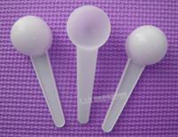 envío libre de 10 gramos 20 ML plástico Scoop PP Cuchara herramienta de medición para el líquido de leche en polvo médica comida - 200pcs / lot OP988