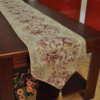 Wholesale Luxury Table Runner Cloths Embroider Home Hotal Decoration Handcraft Europe Style Neoclassical For Wedding size
