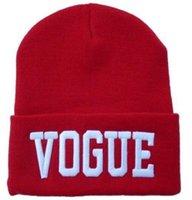 donne Hip-Hop Hat VOGUE Skull Berretti cappelli lavorati a maglia cappello del crochet della protezione delle lane degli uomini della lettera Hat berretto da baseball cap hip hop del cappello