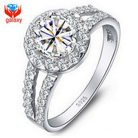 Cheap Luxury Sparkling Wedding Rings for Women 925 Sterling Silver 1.25ct Swiss CZ Diamond Engagement Ring Jewelry Gift Free Shipping ZRJ510