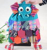 Wholesale ZJ color new national wind hand shoulder bag cloth bag children school bags Elephants Backpacks cm