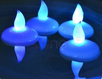 floating candles - factory price plastic electronic waterproof led glowing decoration tealight candles