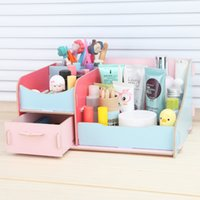 Wholesale DIY home office storage box cosmetic drawer wooden storage box desktop storage box file frame data frame