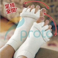 Wholesale Household Beauty Pair Yoga GYM Massage Five Open Toe Separator Socks Health Winter Foot Alignment Pain Relief Health Beauty Women F0235