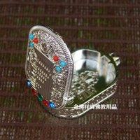 al por mayor colgante kalachakra-Accesorios de oro combinado Nepal artesanía Gaudencio caja colgante tibetano Kalachakra Tantra bendición Gaudencio