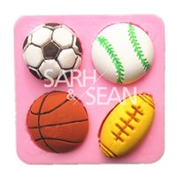 basketball cake mold - M0698 soccer basketball football tennis ball cake mold chocolate mould fondant kitchen baking cake tool cake decoration bakeware