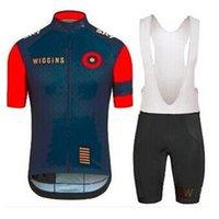 Wholesale best selling Wiggins Cycling Jersey pro team Sportswear bike Clothing Short sleeve BiB Shorts Gel pad Wiggins Cycling vest