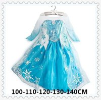 Wholesale Girls Dresses girl long sleeves Fall dress girl party dress anna princess costume baby girls elsa dress girl dress DHL
