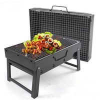 Wholesale Folding Portable Stainless Steel Outdoor Hiking Camping Charcoal Grill Picnic BBQ Grill For Barbecue CM JE0035 salebags