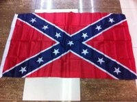 Wholesale Two Sides Printed Rebel Flag Confederate Rebel Civil War Flag National Polyester Flag X FT cm