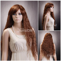 Wholesale long curly wigs for women buy a wig luxury hair wig barbie wigs Synthetic fiber of Kanekalon pc XC569 H