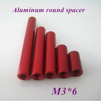 Wholesale 50pcs M3 Aluminum Female to Female Round Nut Standoff Spacer Multi color Red Golden Blue OD mm