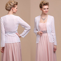 chiffon jacket - Cheapest Summer Long Sleeve White Chiffon Jacket for Evening Dresses Bridal Thin Jacket