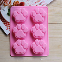 Wholesale 6 Cat s Paw Silicone Ice Cube Chocolate Cake Cookie Cupcake Soap Molds Mould Hot Sale TY1712