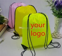 advertising backpacks - Customize Drawstring Tote bags Logo print Advertising Backpack folding bags Marketing Promotion Gift shopping bags Screenprinting