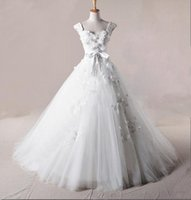 affordable wedding designers - Most Sumptuous Delicate Affordable prices Sexy Designer Cap Sleeves Wedding Dresses Chapel train Tulle Wedding Gowns Bridal Dresses